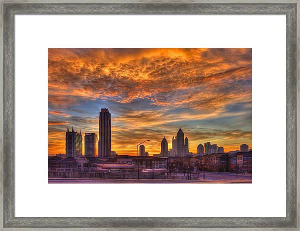 A New Day Atlantic Station Sunrise Framed Print