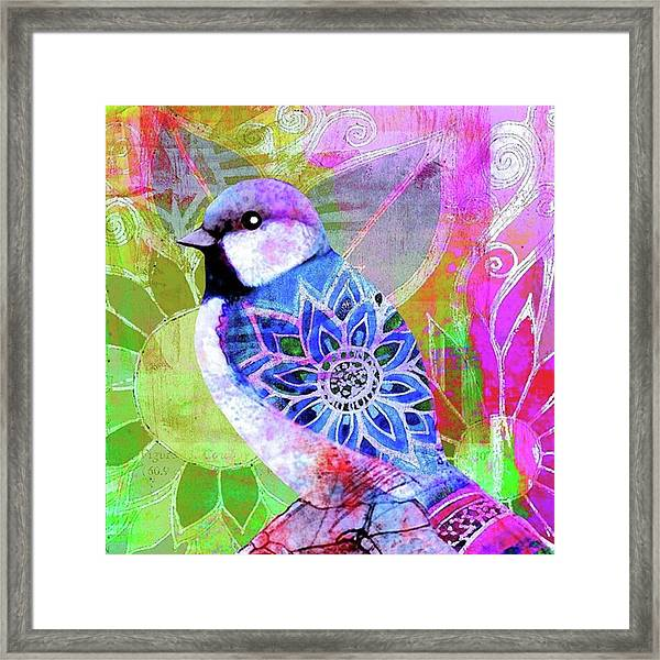 A New Little Digital Bird Framed Print