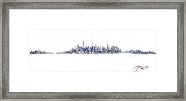 A New Year In Manhattan Framed Print