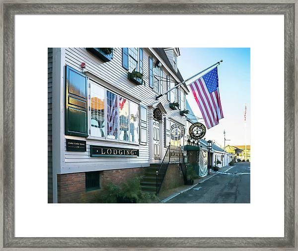 A Newport Wharf Framed Print