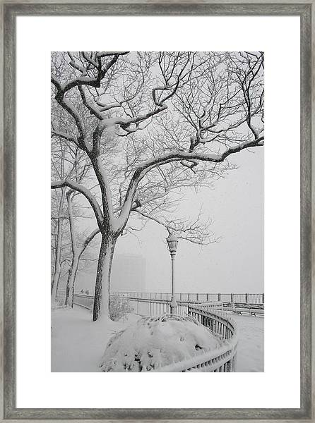 A Nor'easter In Brooklyn Framed Print