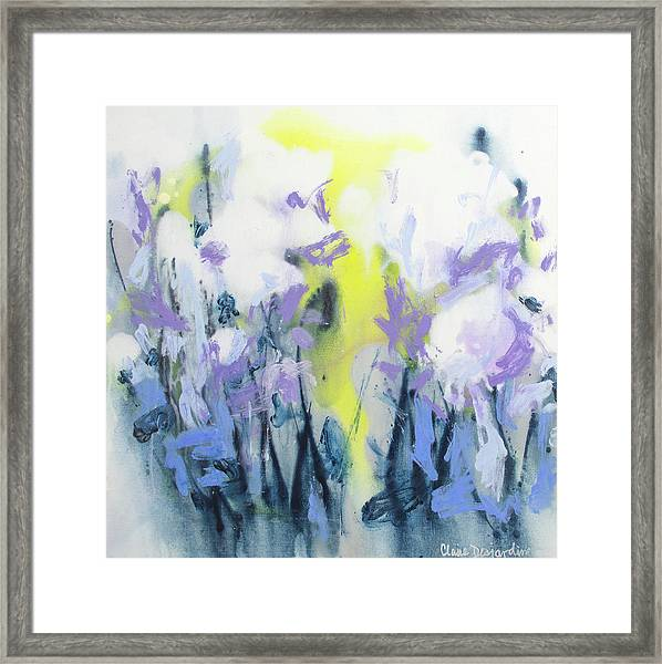 A Patch Of Purple Framed Print