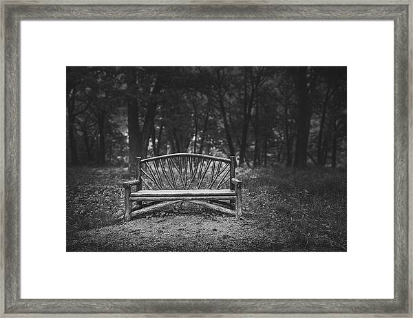 A Place To Sit 6 Framed Print