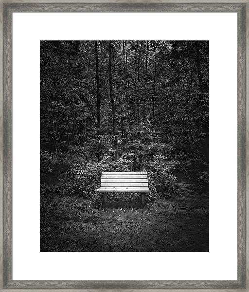 A Place To Sit Framed Print