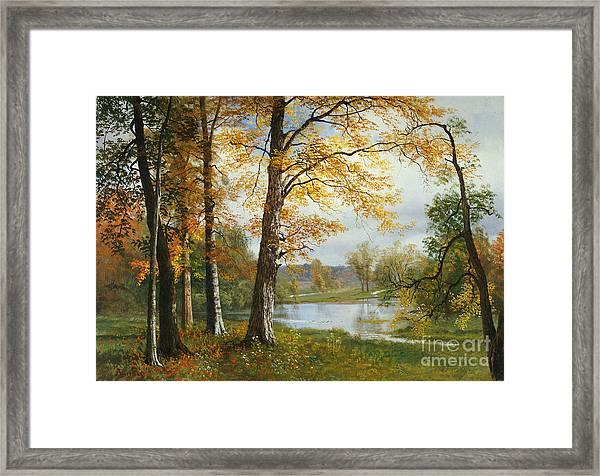 A Quiet Lake Framed Print