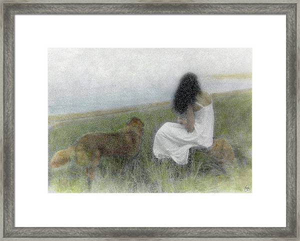 A Quiet Moment On The Vineyard Framed Print