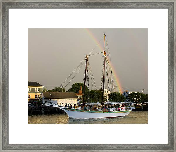 A Rainbow Cruise Framed Print