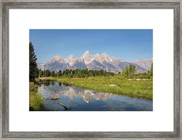 A Reflection Of The Tetons Framed Print