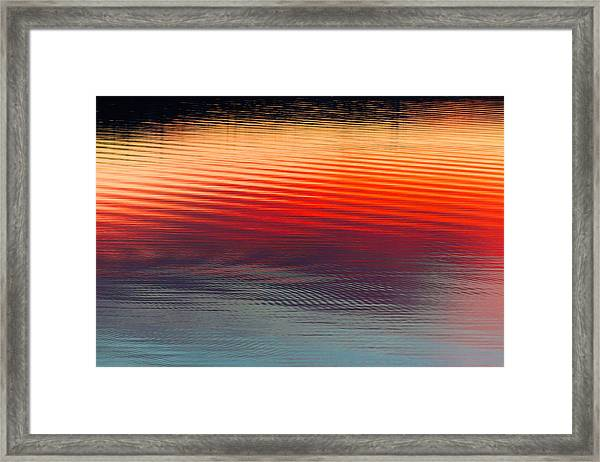 A Resplendent Reflection Framed Print