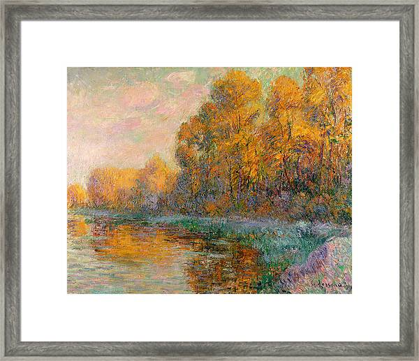 A River In Autumn Framed Print