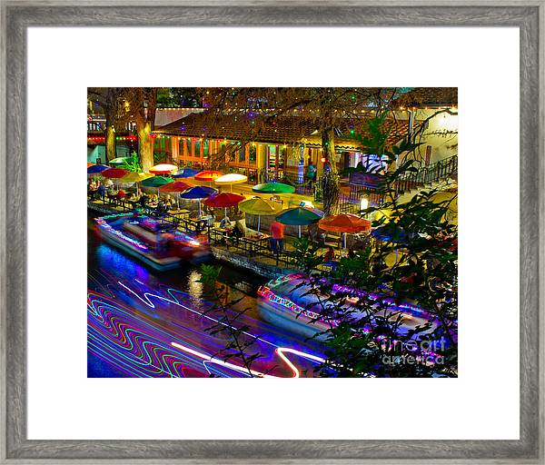 A San Antonio River Walk Christmas Framed Print