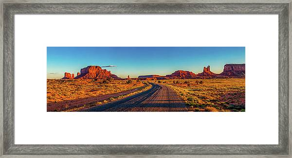 A Road Less Travelled Framed Print