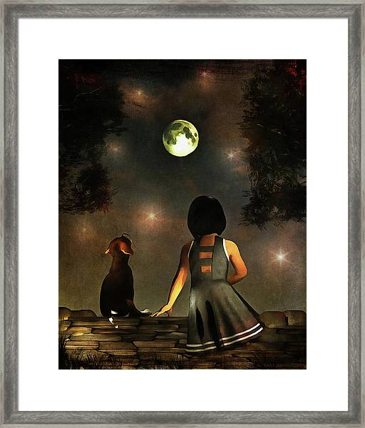 Framed Print featuring the painting A Romantic Meeting by Jan Keteleer