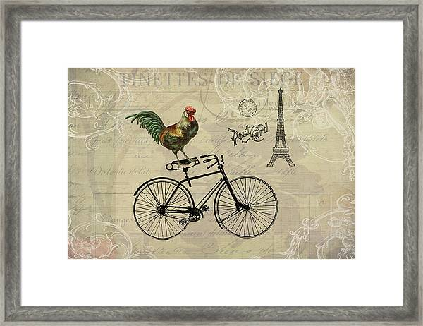 A Rooster In Paris Framed Print