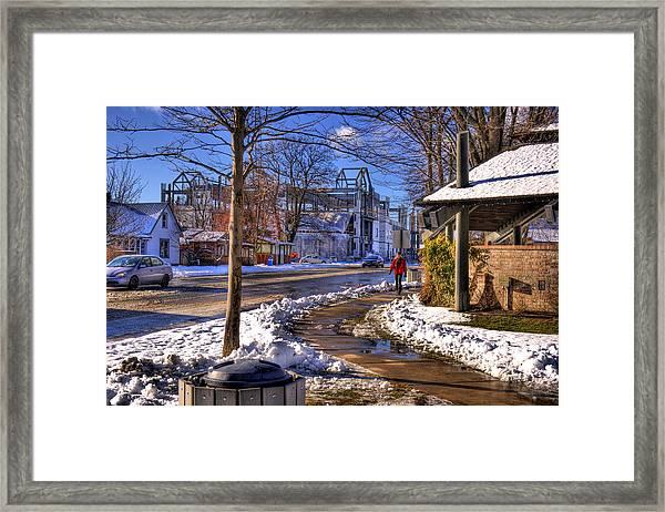 A Sandpoint Winter Framed Print