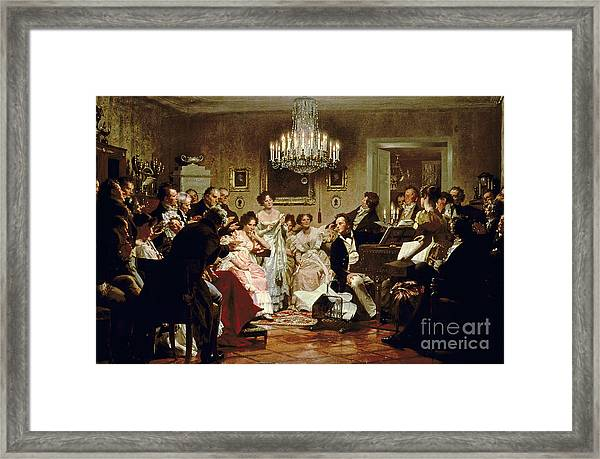 A Schubert Evening In A Vienna Salon Framed Print