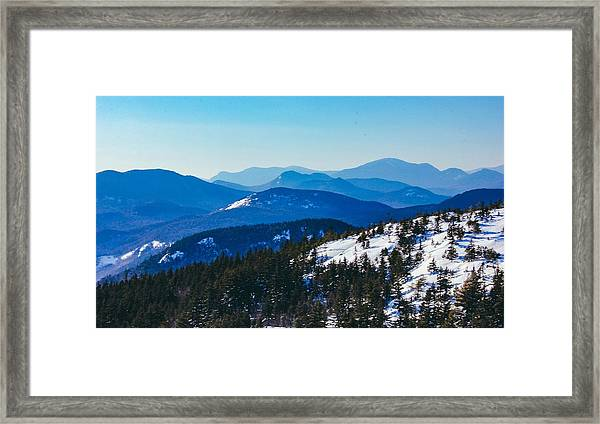 A Sea Of Mountains, South Moat Mountain Summit Framed Print