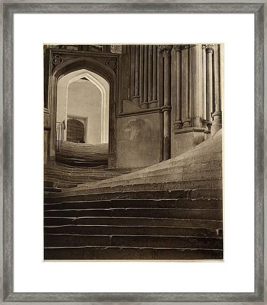 A Sea Of Steps Framed Print