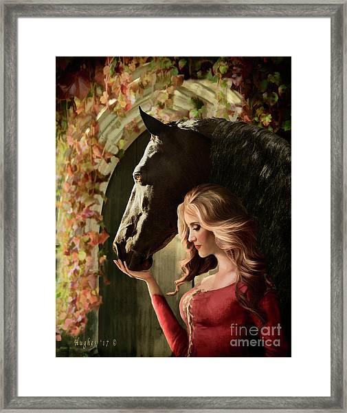 Framed Print featuring the digital art A Secret Passage by Melinda Hughes-Berland