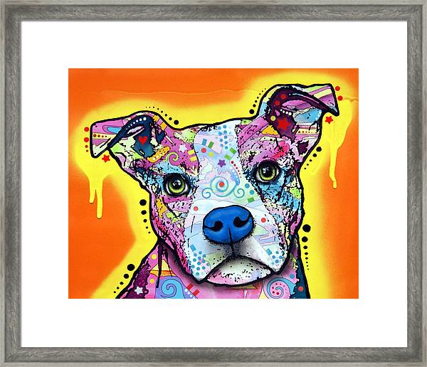 A Serious Pit Framed Print