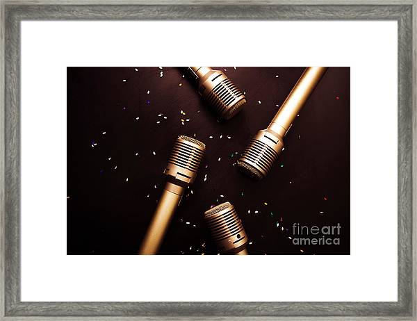 A Showtime Scene Framed Print