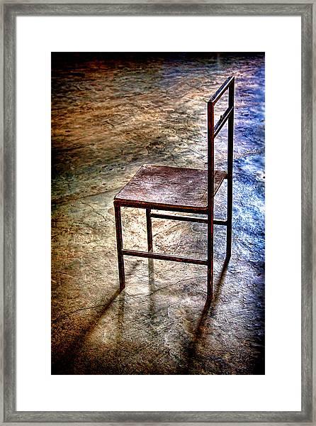 A Simple Chair Framed Print