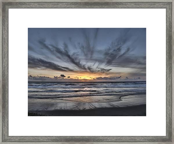 A Simple Sunset Framed Print