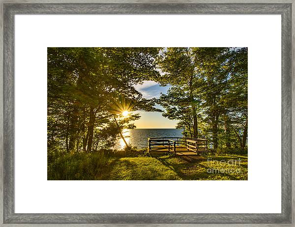 A Sterling Sunset Framed Print