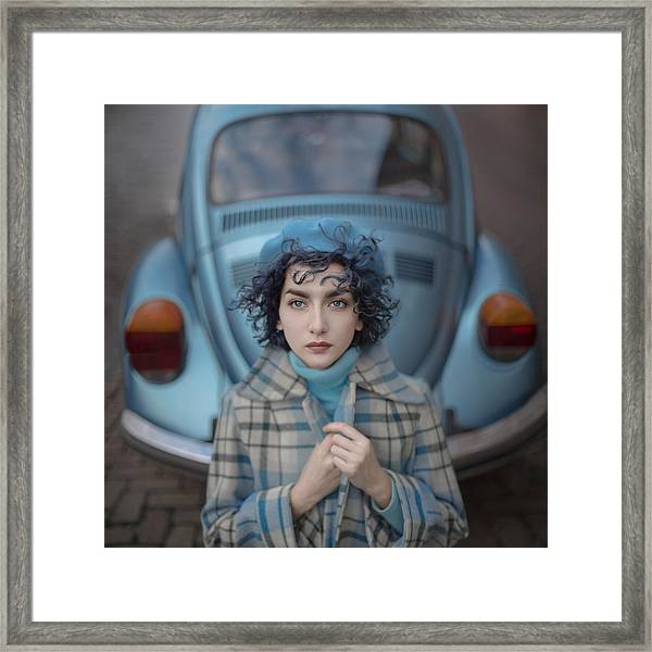 A Study In Blue Framed Print
