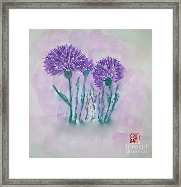 A Study In Purple Framed Print