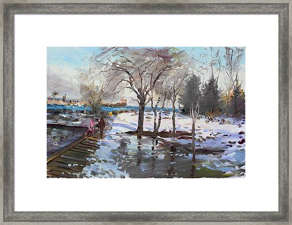 A Sunny Freezing Day Framed Print