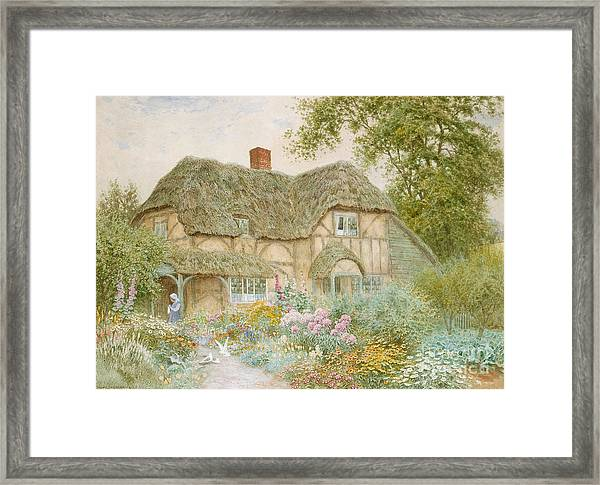 A Surrey Cottage Framed Print