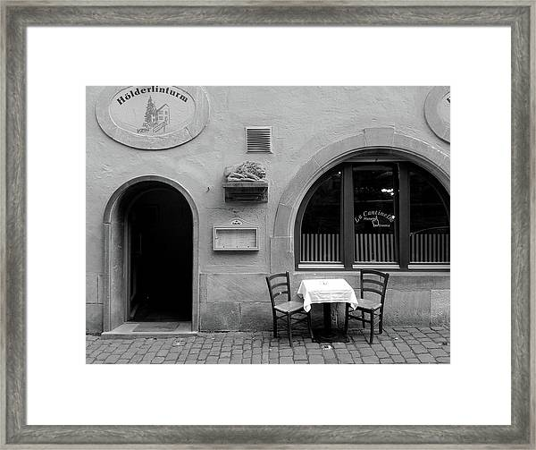 Waiting For Two Framed Print