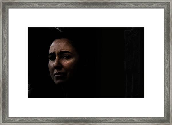 A Tear Fell From Her Eye As She Said Goodbye Framed Print