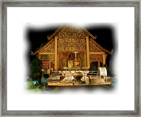 A Temple Night 1 Framed Print