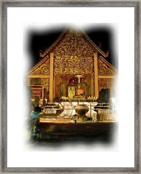 A Temple Night 2 Framed Print