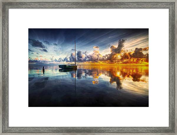 A Time For Reflection Framed Print by Mark Yugawa