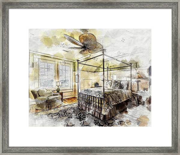 A Traditional Bedroom Framed Print