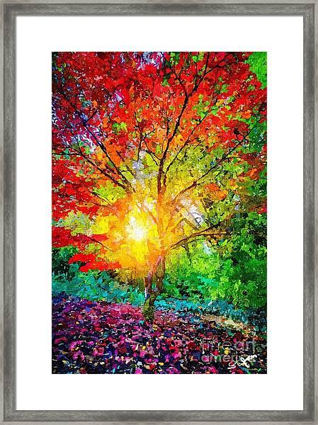 A Tree In Glory Framed Print
