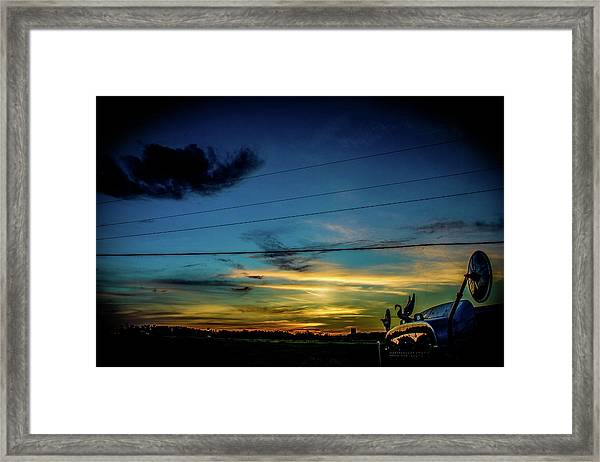 A Trucker's View Framed Print