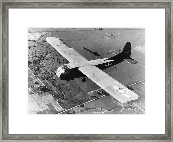 A U.s. Army Air Force Waco Cg-4a Glider Framed Print