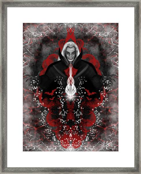 A Vampire Quest Fantasy Art Framed Print