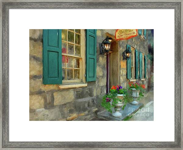 Framed Print featuring the digital art A Victorian Tea Room by Lois Bryan