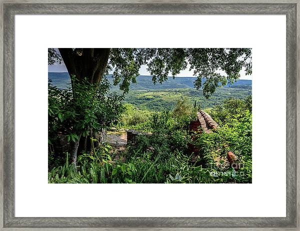 A View From Groznjan Of The Istrian Hill Town Countryside, Istria, Croatia Framed Print