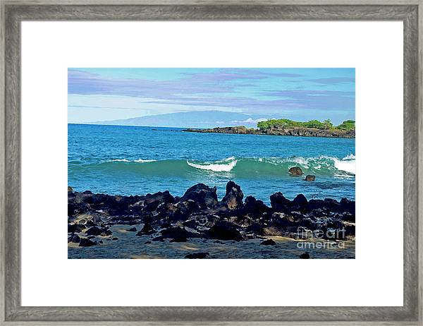 A View Of Maui From Wailea Bay Framed Print