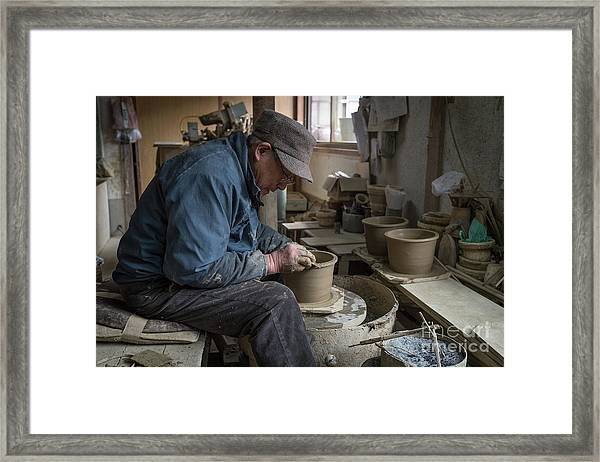 A Village Pottery Studio, Japan Framed Print