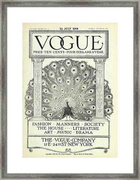 A Vintage Vogue Magazine Cover Framed Print by Artist Unknown
