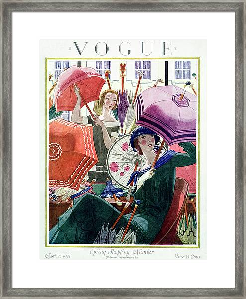 A Vintage Vogue Magazine Cover From 1924 Framed Print