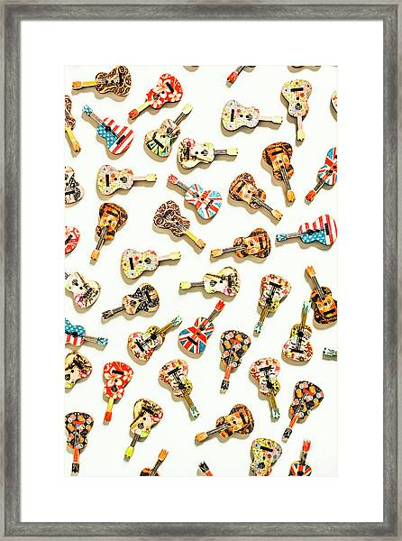 A Visual Play In Music Framed Print