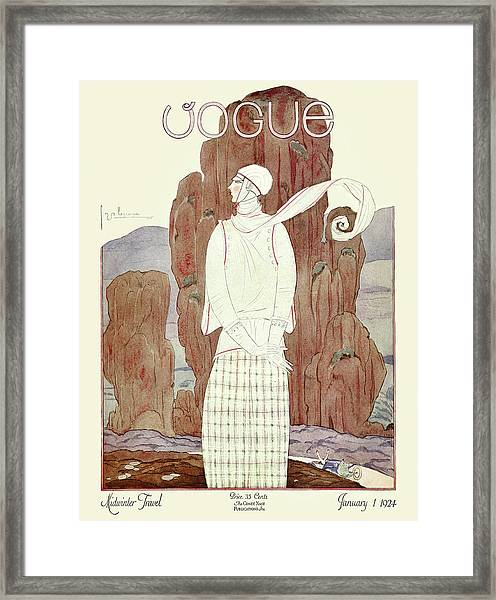 A Vogue Magazine Cover From 1924 Framed Print